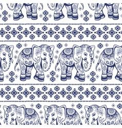 Ethnic elephant seamless vector
