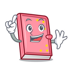 finger diary mascot cartoon style vector image