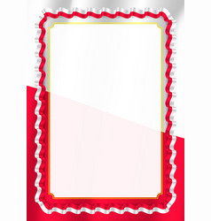 Frame and border of ribbon with poland flag vector