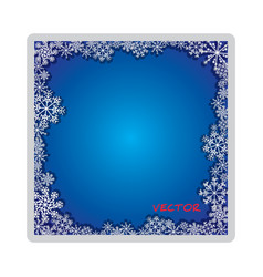Frosty isolated foto frame decorative ornament vector