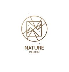 Geometric sacred abstract emblem tattoo vector