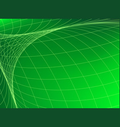 geometric structure network in green space vector image