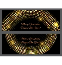 Gold sparkles Banners Abstract Beauty Merry vector image