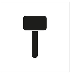hammer icon on white background vector image