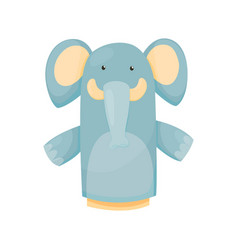Hand or finger puppets play doll elephant cartoon vector