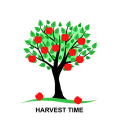 harvest time card vector image