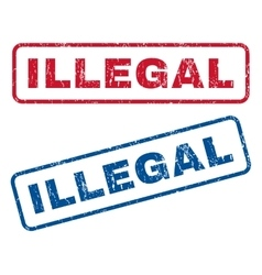 Illegal rubber stamps vector