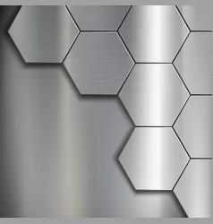 industrial steel background vector image