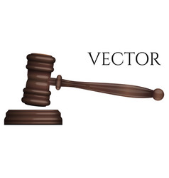 Judge gavel isolated on white photo-realistic vector