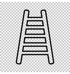 Ladder sign line icon vector