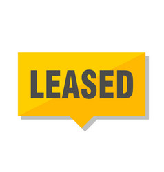 leased price tag vector image