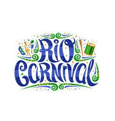 Logo for carnival in rio de janeiro vector