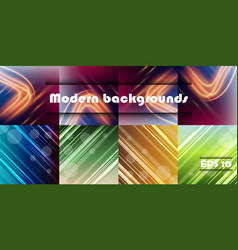 Minimal covers set trendy multicolored modern vector