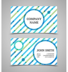 Modern blue and green business card template vector