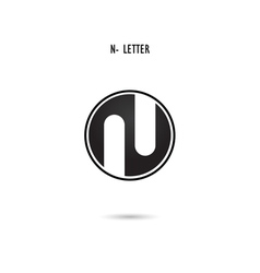 N-letter abstract logo vector image