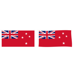 New zealand red ensign flag used by civilian vector