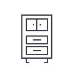office cupboards linear icon sign symbol vector image