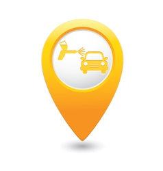 Painting of cars map pointer yellow vector