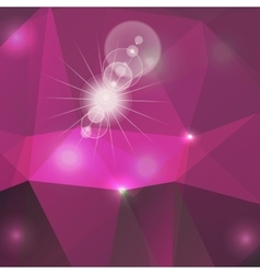 Poligon light effect background Triangular vector image