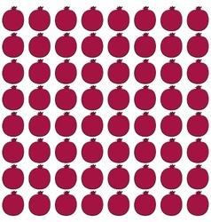 pomegranate pattern vector image