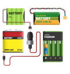 Powerful charging devices collection vector