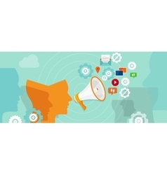 public relation buzzer promotion spreading media vector image