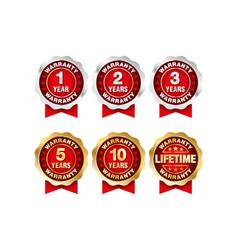 Quality certification warranty badge icon set 1 vector