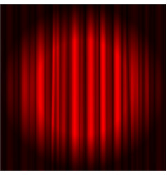 Red luxury curtain realistic 3d background vector