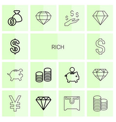 Rich icons vector