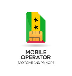 Sao tome and principe mobile operator sim card vector