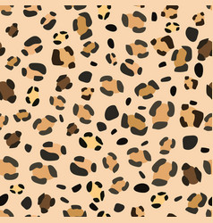seamless leopard pattern for web design vector image