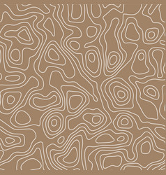 seamless pattern in topographic map style vector image