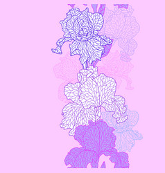 Seamless pattern with violet irises vector