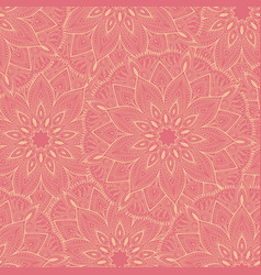 seamless pink mandala pattern for printing on vector image