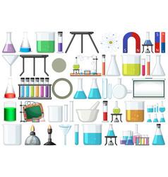 set lab tools vector image