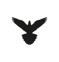 Simple black bird isolated style logo vector