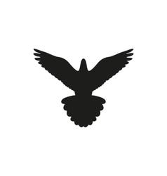 Simple black bird isolated style logo vector