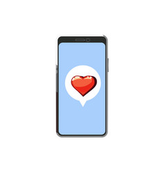 smartphone flat modern style with love message vector image