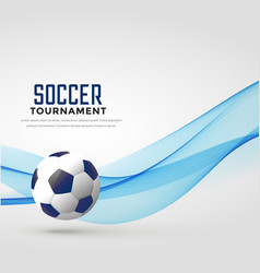 Soccer tournament background with blue wave vector
