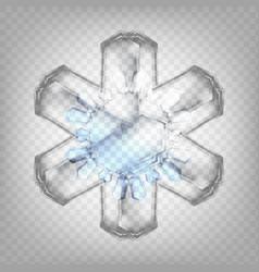 stock realistic snowflake vector image
