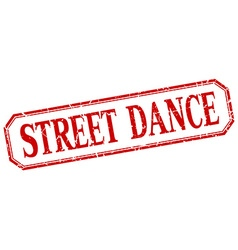 Street dance square red grunge vintage isolated vector