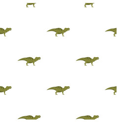 striped hadrosaurid dinosaur pattern seamless vector image