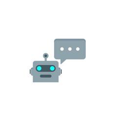 talk robot logo icon design vector image