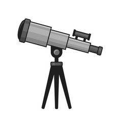 telescope icon on white background vector image