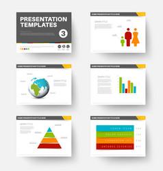 template for presentation slides 3 vector image