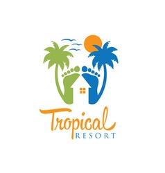 tropical resort design template vector image