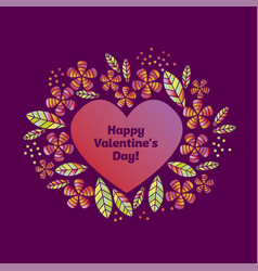 valentine decorative element with heart vector image