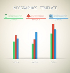 web infographic timeline bar template layout vector image