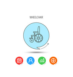 Wheelchair icon disabled traffic sign vector