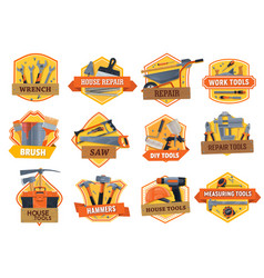 Work tools construction house repair and building vector
